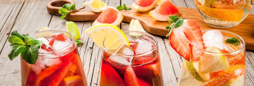 cocktails et recettes gastronomiques
