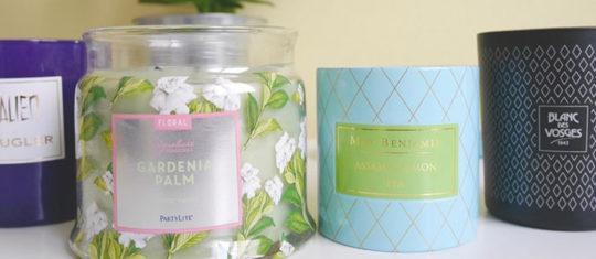 des bougies parfumées anti-odeurs de cuisine